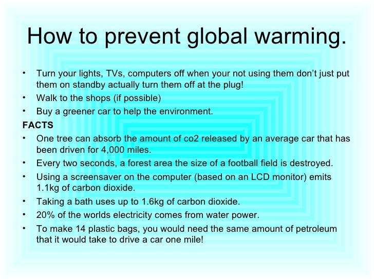 Avoid global warming essay
