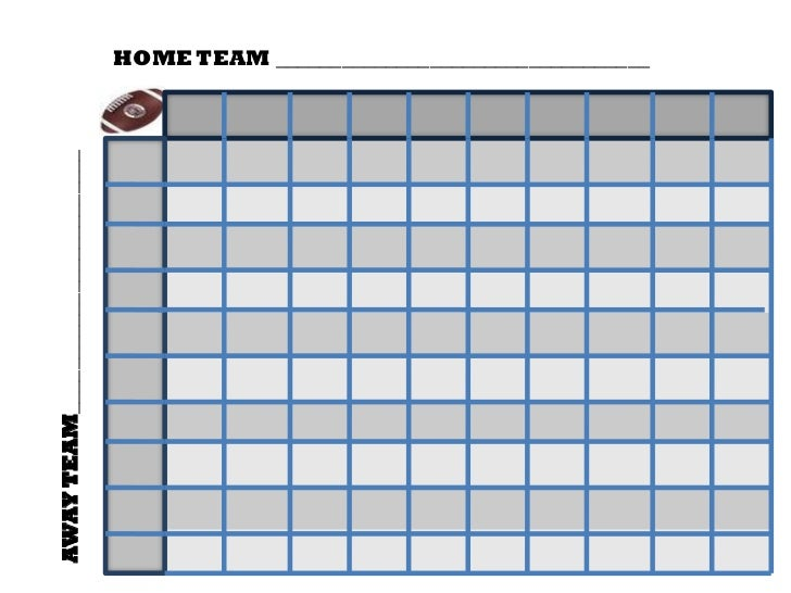 Slobbery image for football squares printable