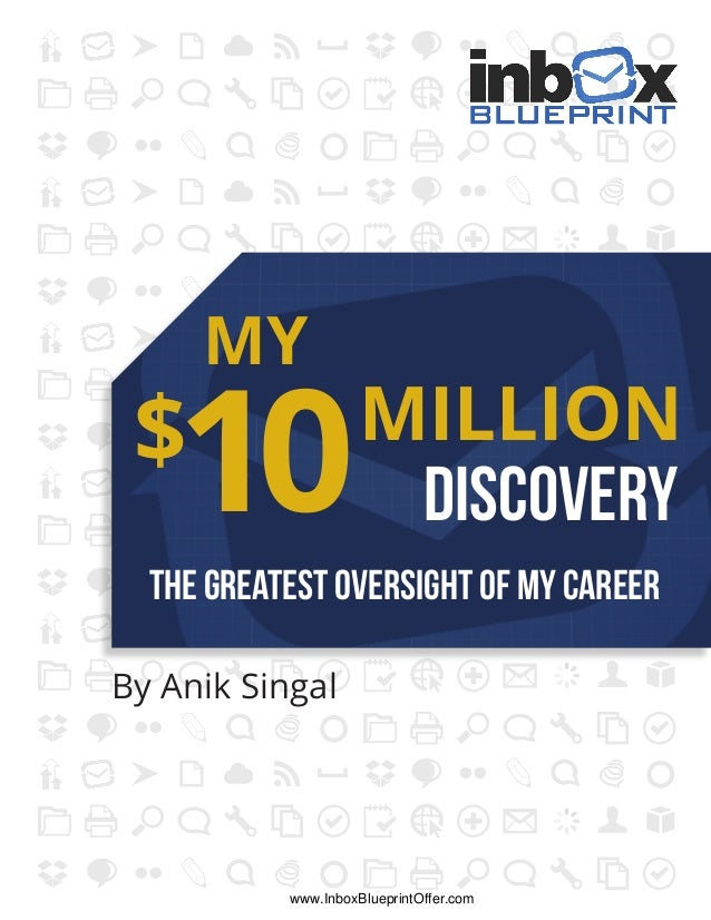 DISCOVERY MY MILLION The GreateST OVERSIGHt Of My Career $ 10 By Anik Singal www.InboxBlueprintOffer.com