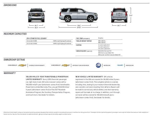 2015 chevrolet tahoe chevrolet dealer serving cleveland - Chevrolet suburban interior dimensions ...