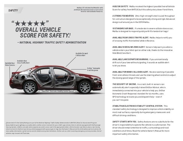2015 Chevrolet Malibu Brochure Omaha Ne Area Dealer