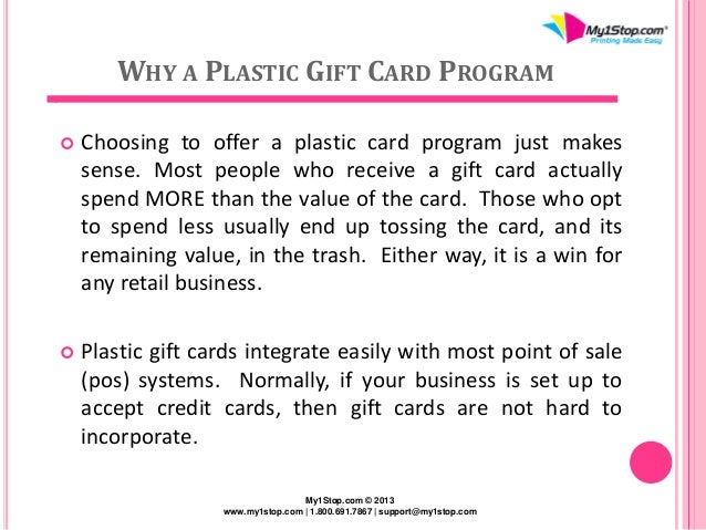 Increase retail sales with a solid plastic gift card program 3 why a plastic gift card colourmoves Images