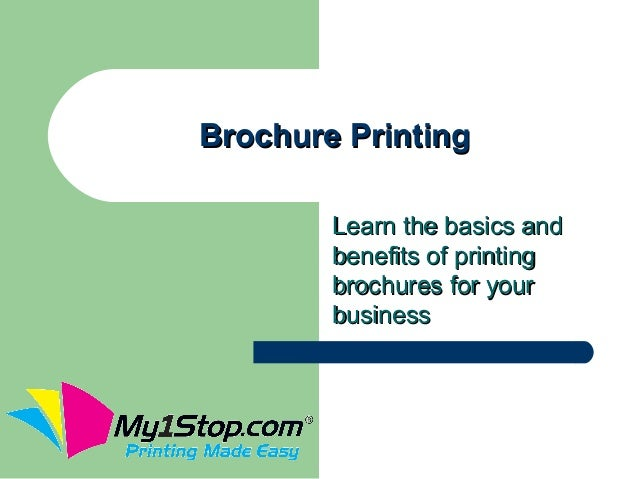 Brochure Printing        Learn the basics and        benefits of printing        brochures for your        business