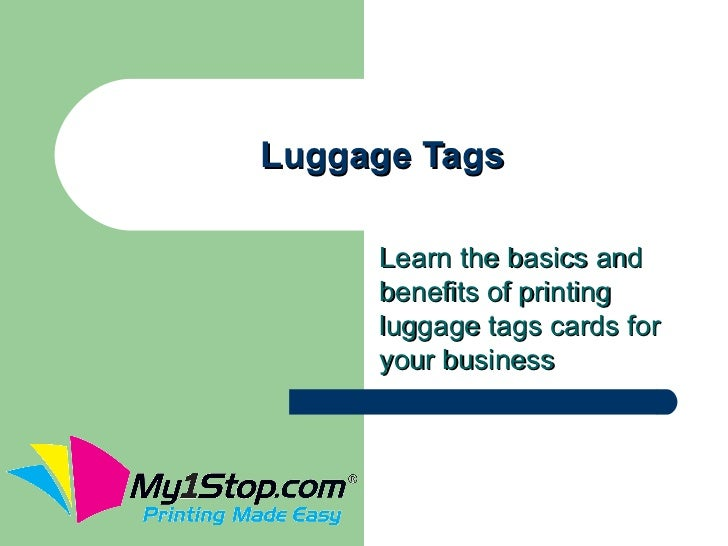 Luggage Tags     Learn the basics and     benefits of printing     luggage tags cards for     your business
