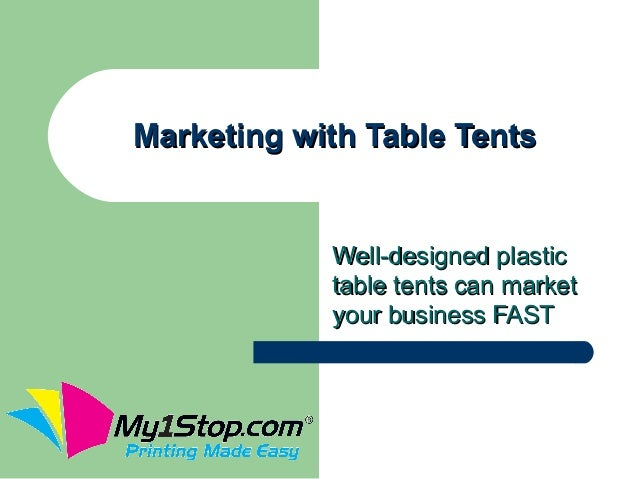 Marketing with Table Tents