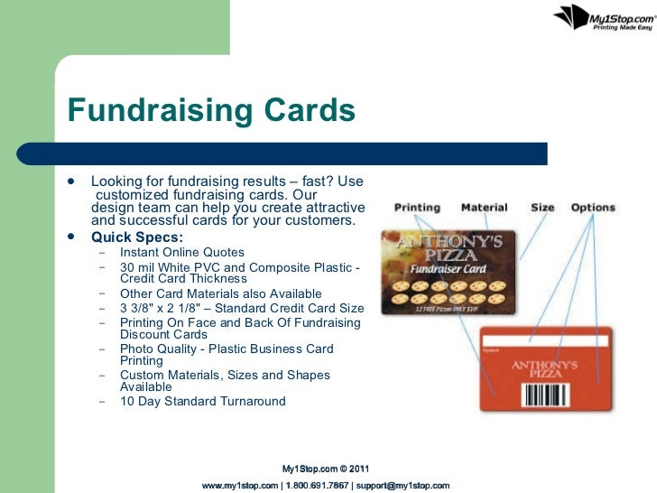 Types of plastic cards 6 fundraising cards reheart Image collections