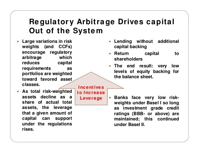 regulatory arbitrage and basel Interaction between solvency ii and basel iii regulatory arbitrage after basel iii examples  the basel ii / basel iii equivalent rules developed by the islamic.