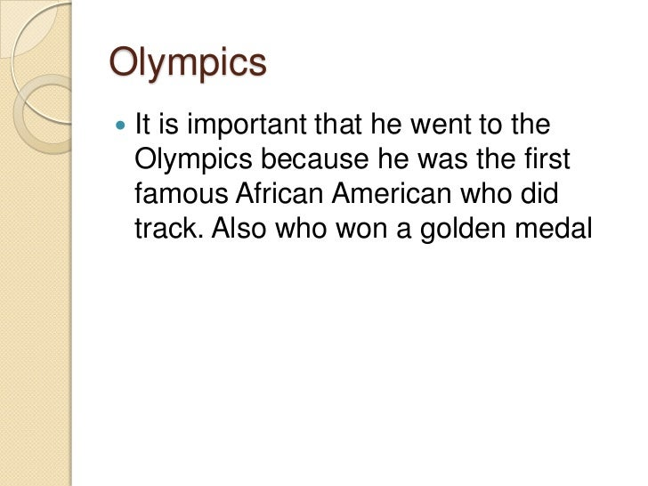 my greatest olympic prize by jesse owens African-american jesse owens and aryan poster boy luz long went face to face  when nazi germany hosted the 1936 summer olympics in berlin  of the event  in a story entitled my battle with owens published in the neue.