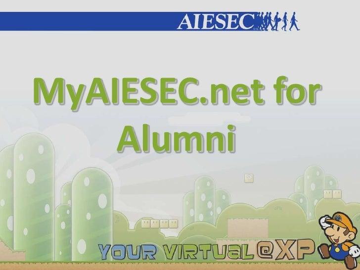 MyAIESEC.net for     Alumni