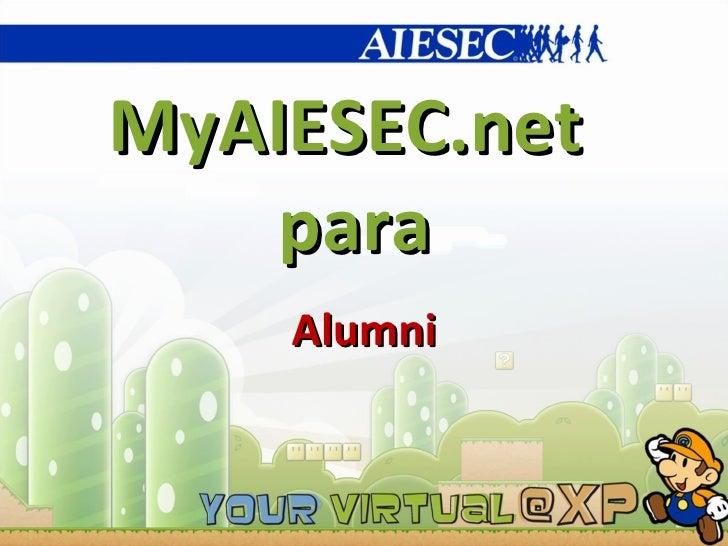 MyAIESEC.net  para Alumni