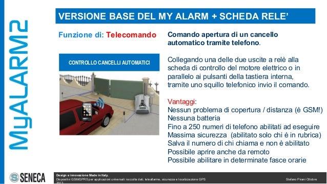 Myalarm2 caratteristiche impiego installazioni for Combinatore telefonico auto
