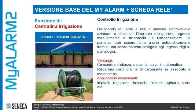 Myalarm2 caratteristiche impiego installazioni for Temporizzatore impianto irrigazione