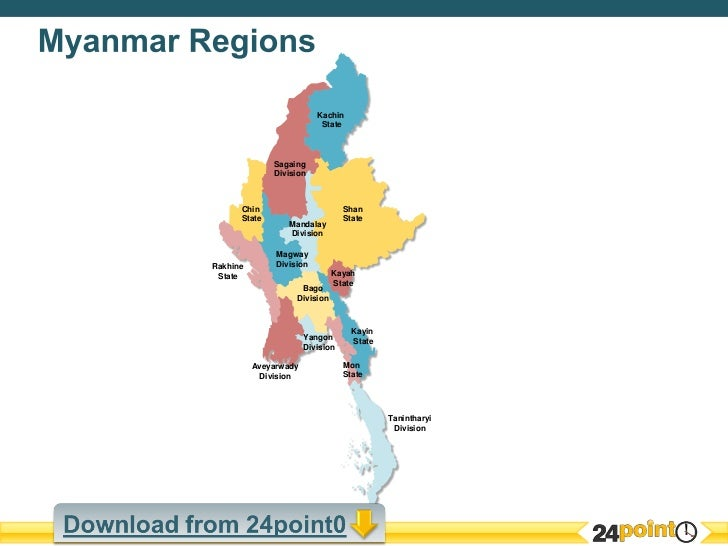 Editable Map Of Myanmar - Burma map download