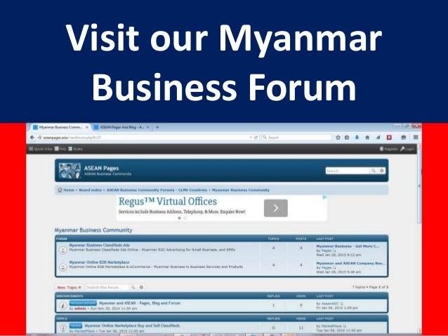 Myanmar Small Business Community