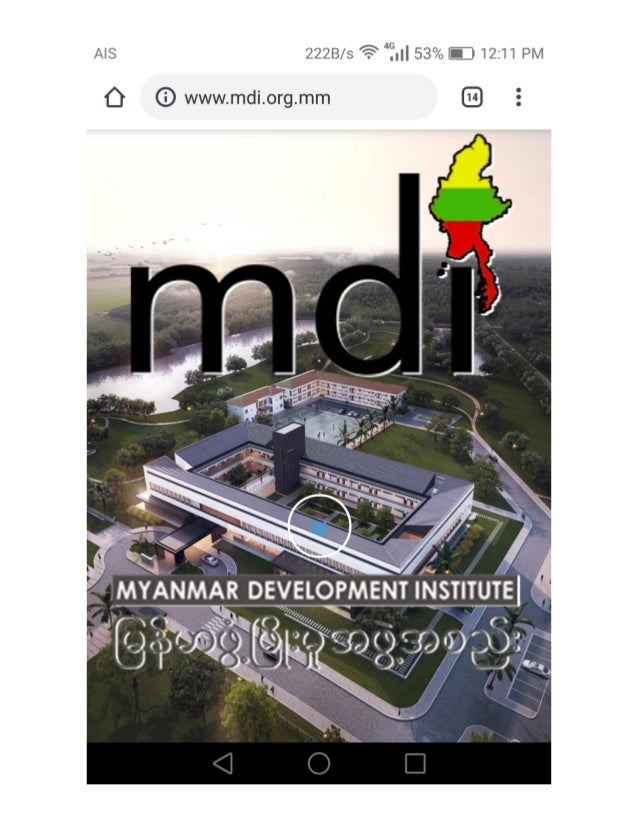 MYANMAR DEVELOPMENT INSTITUTE (MDI)