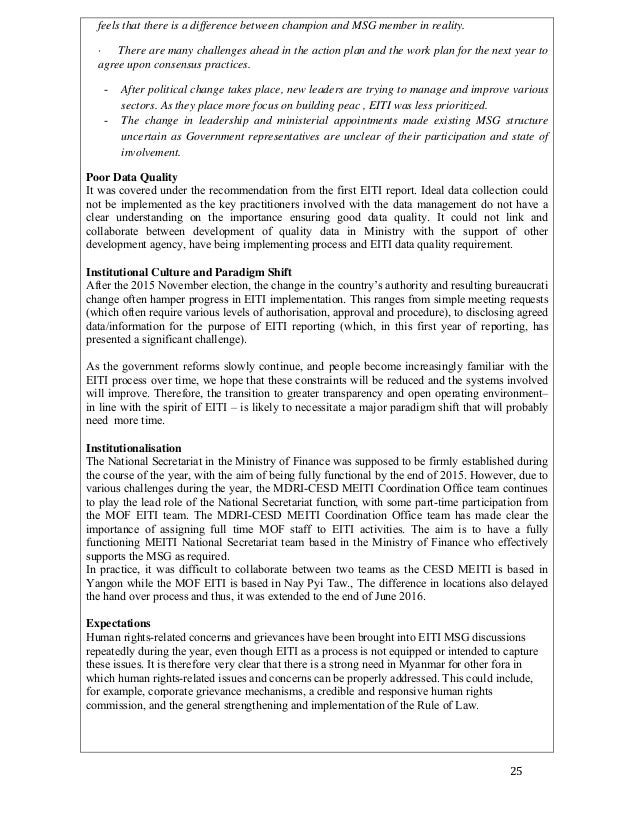 Myanmar Extractive Industries Transparency Initiative (Meiti)