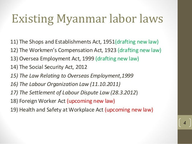 social security law myanmar