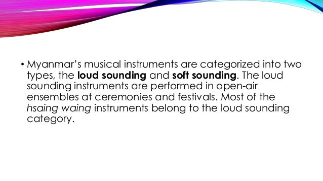 Different musical instruments of myanmar celebrity