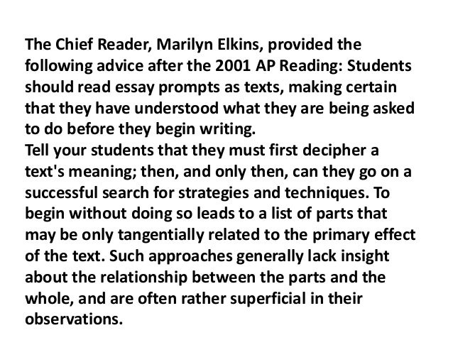 list at least three rhetorical strategies for writing an essay My students could identify rhetorical strategies in gould's essay, but they didn't  analyze the strategies  by the end, i had a long list for both categories  only  three paragraphs, but they had analyzed at least seven strategies  teaching is  a process, similar to writing: both require self-analysis, being.