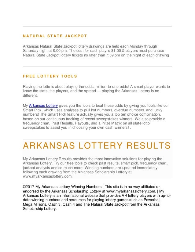 Arkansas Lottery Winning Numbers
