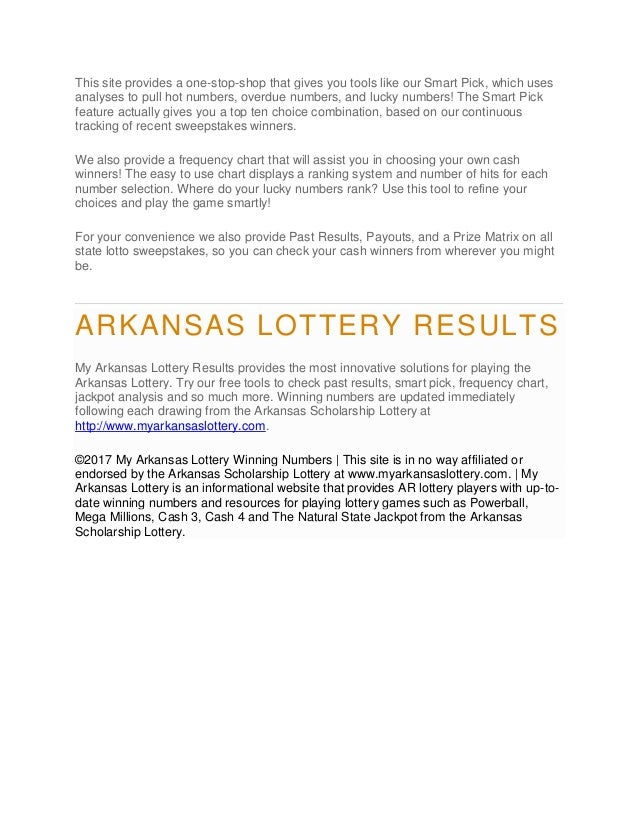 Mega Millions Results for the Arkansas Lottery