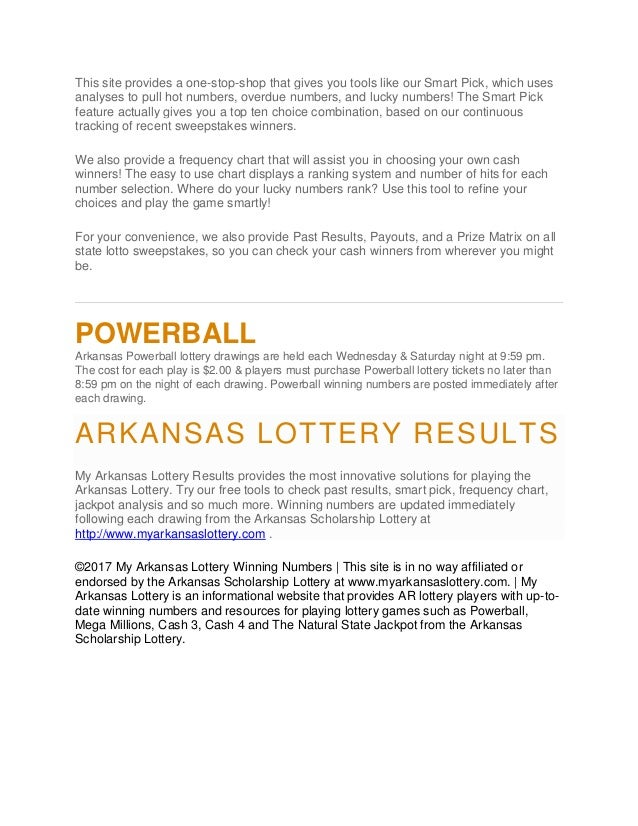 Missouri (MO) Lottery General Information