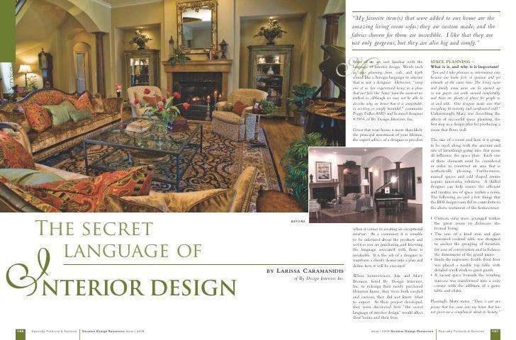 Houston design resources magazine editorial peggy fuller - Houston interior design magazine ...