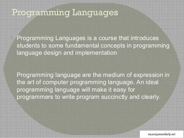 assignment 1 exploring programming lang Unit 1, research assignment 1: exploring programming languages 1) there have been several versions of sql created in the last 26 years in 1986, sql-86 (sql-87) was first published.
