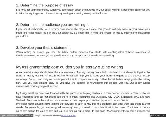 essay outline format