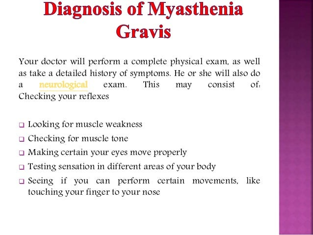 the symptoms and causes of myasthenia gravis Myasthenia gravis is a chronic autoimmune disease that causes muscles weakness and rapid fatigue the term myasthenia gravis is latin and greek in origin, and means grave muscle weakness .