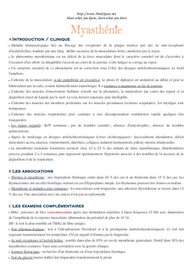 http://www.MedeSpace.net Share what you know, learn what you don't A.Introduction / clinique –– Maladie immunologique liée...