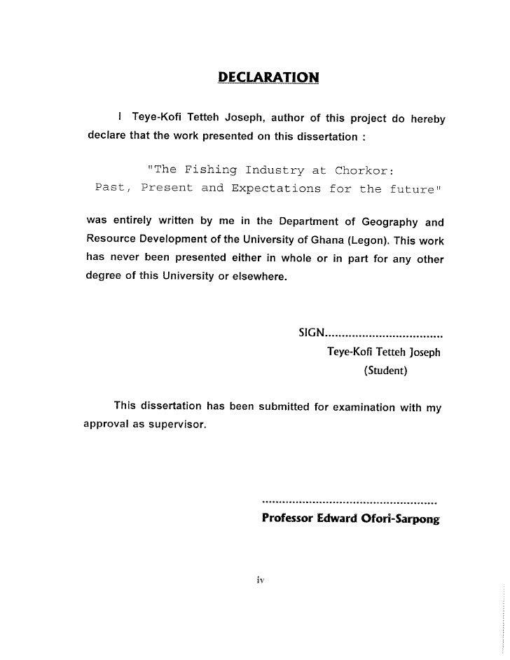 My Bachelors Degree Dissertation