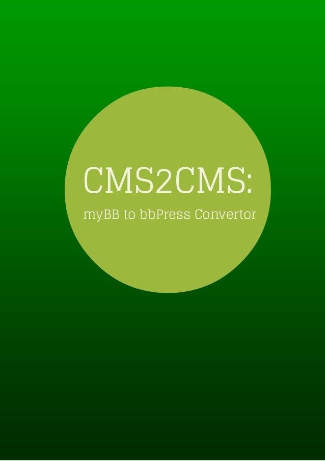 CMS2CMS: myBB to bbPress Convertor