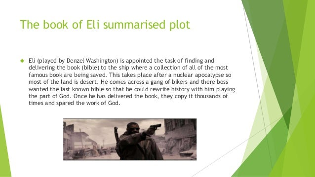 Book of eli synopsis role of bible