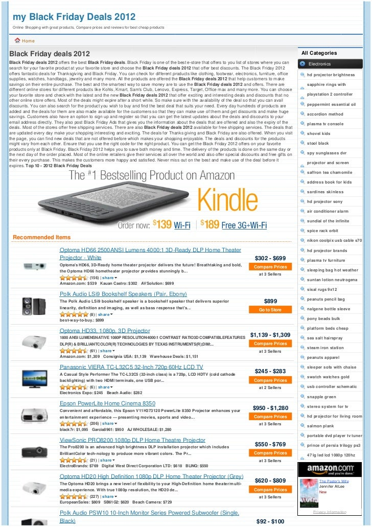 my Black Friday Deals 2012 Online Shopping with great products, Compare prices and reviews for best cheap products      Ho...