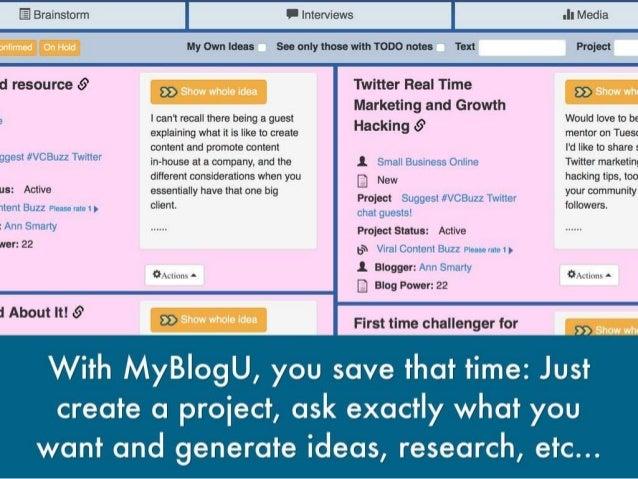 How @Myblogu Makes Blogging Enjoyable! Slide 3