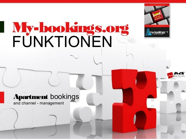 My-bookings.org FUNKTIONEN Apartment bookings and channel - management
