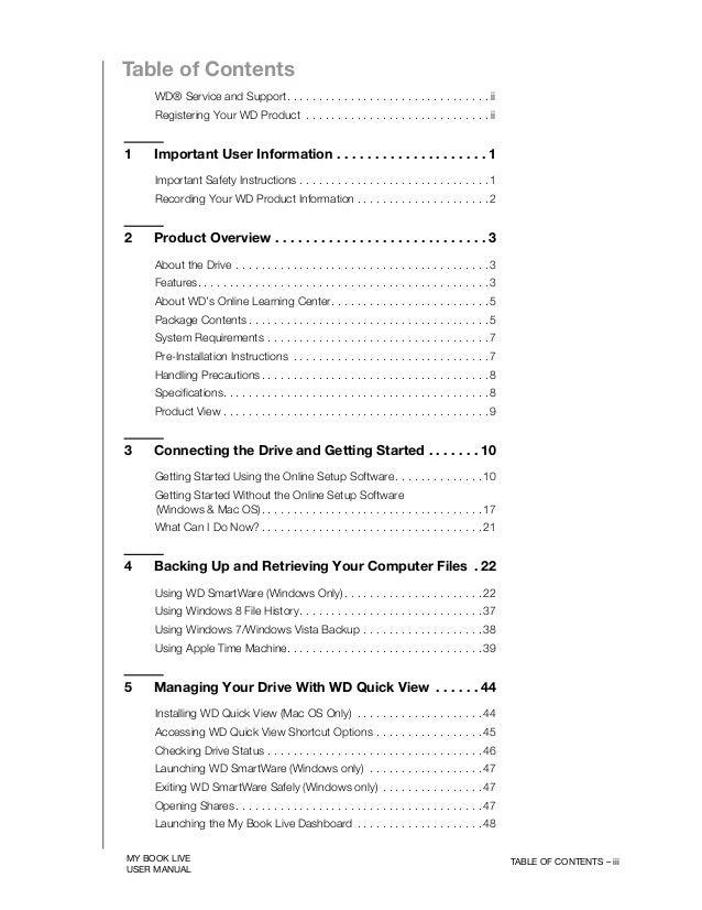My Book Live Dashboard Mac