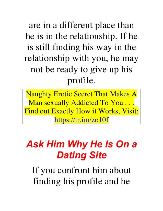 If your boyfriend goes on dating sites