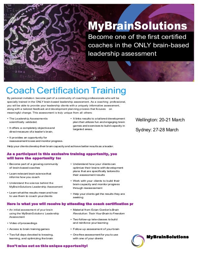 Brain Based Leadership Assessment And Coaching