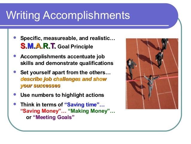 My accomplishments and goals essay sample