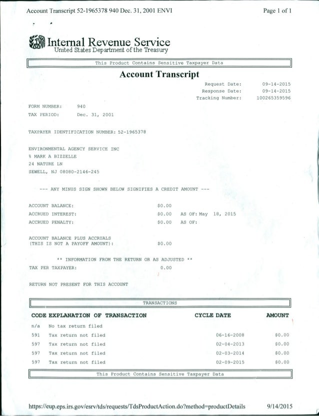 irs account transcript how to read