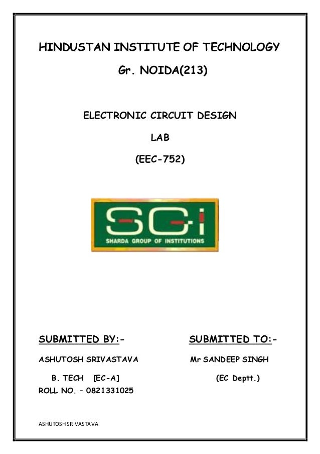 my cad lab fileEec 752 Electronic Circuit Design Lab #7