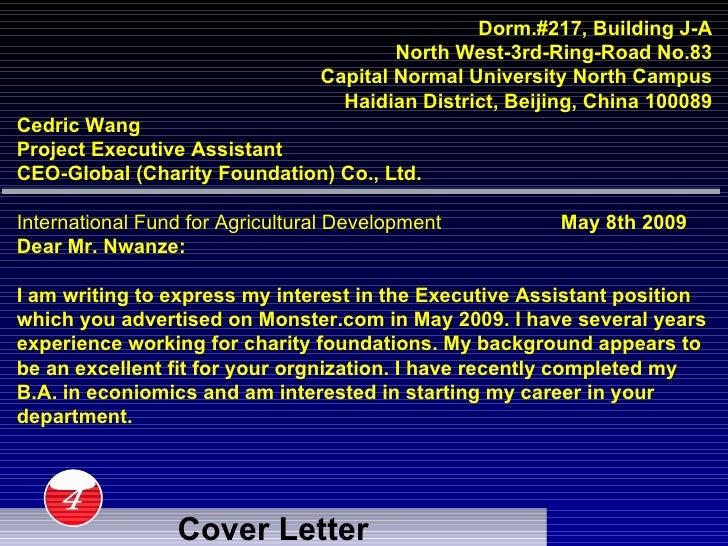 Sample Grant Cover Letter LiveCareer
