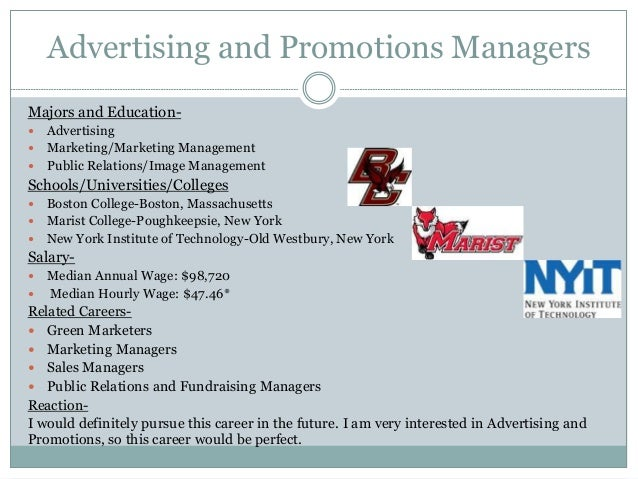advertising and promotions managers