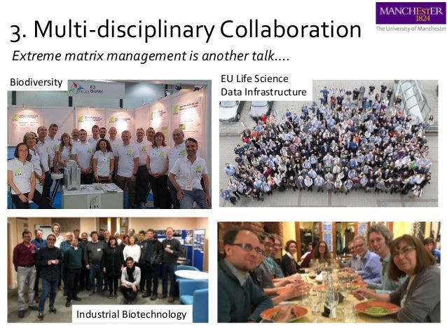 3. Multi-disciplinary Collaboration Biodiversity EU Life Science Data Infrastructure Industrial Biotechnology Extreme matr...