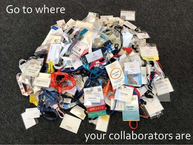 Go to where your collaborators are