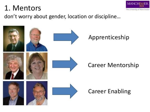 1. Mentors don't worry about gender, location or discipline… Apprenticeship Career Mentorship Career Enabling
