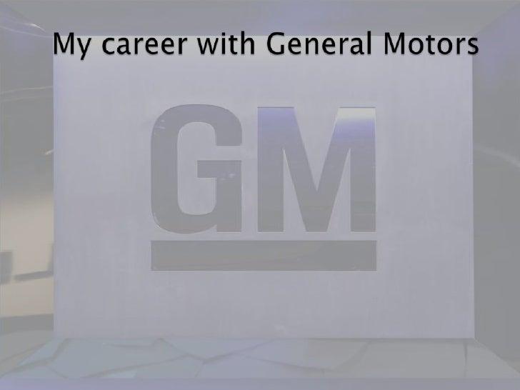 My career with General Motors<br />