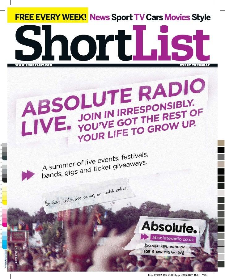 Absolute Radio - Shortlist
